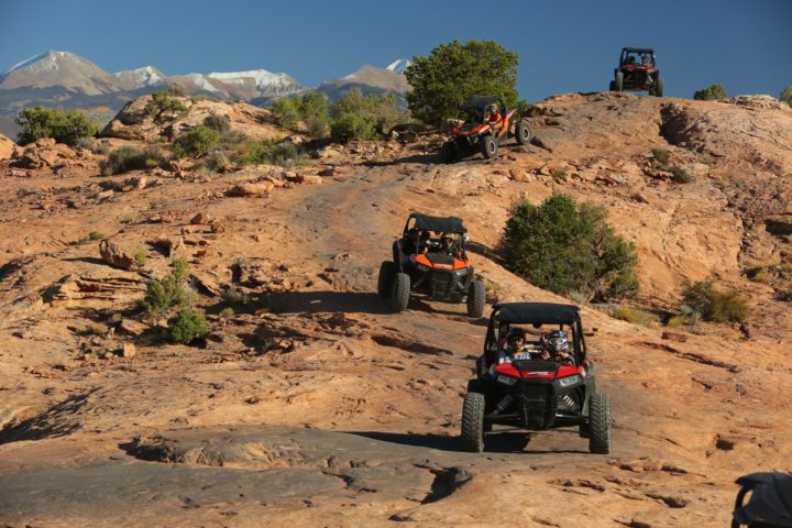 UTV tour on slickrock in Moab with High Point Hummer & ATV Tours